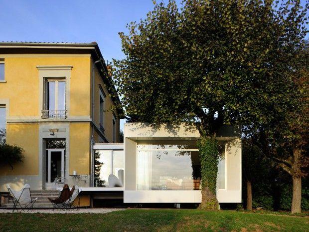 une extension taille xs se greffe une maison bourgeoise - Prix D Une Extension Maison