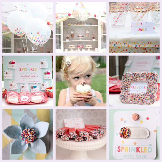 Sprinkle Birthday Party @Noelle Stransky Hollins - this would be such a cute 1st bday!!