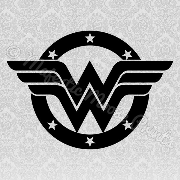 Wonder Woman Svg Decals Laptop Decal Car Decals