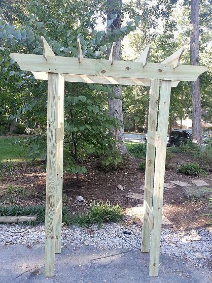 Instructions For Garden Pergola Arbor For Under 20