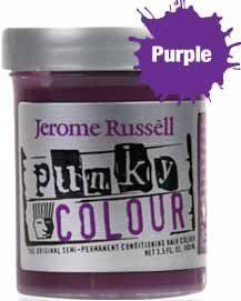 Jerome Russell Punky Hair Color Creme, Purple, 3.5 Ounce