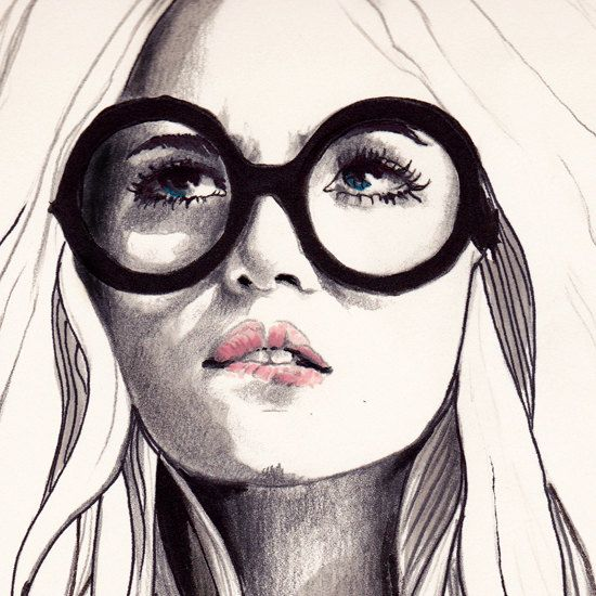 Can't Remember His Name 8 X 10 Print of Original Fashion Illustration by anna hammer