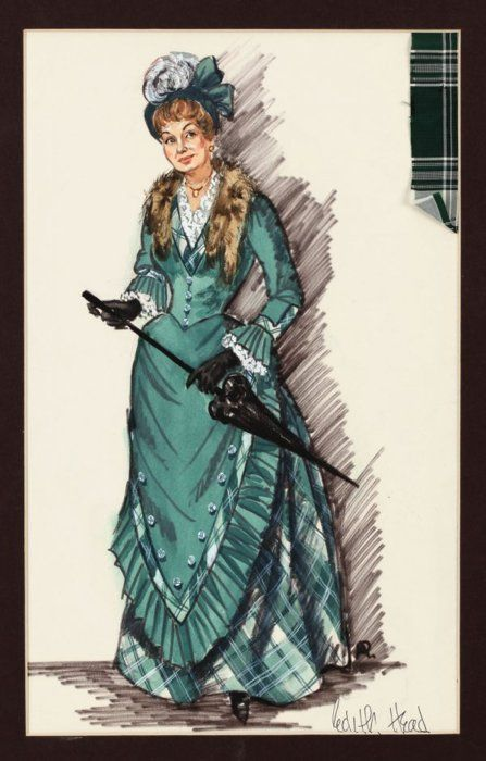 """Costume design by Edith Head for Shirley Booth in """"The Matchmaker"""""""