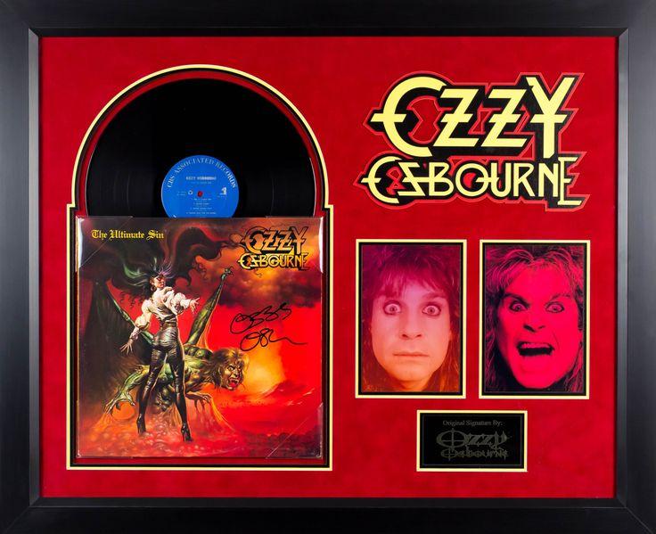 Ozzy Osbourne - The Ultimate Sin - Signed Album LP Custom Framed