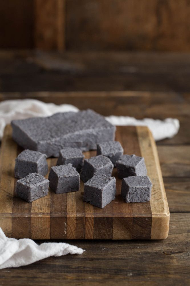 Black Bean Tofu - make it in your own home using black bean flour!