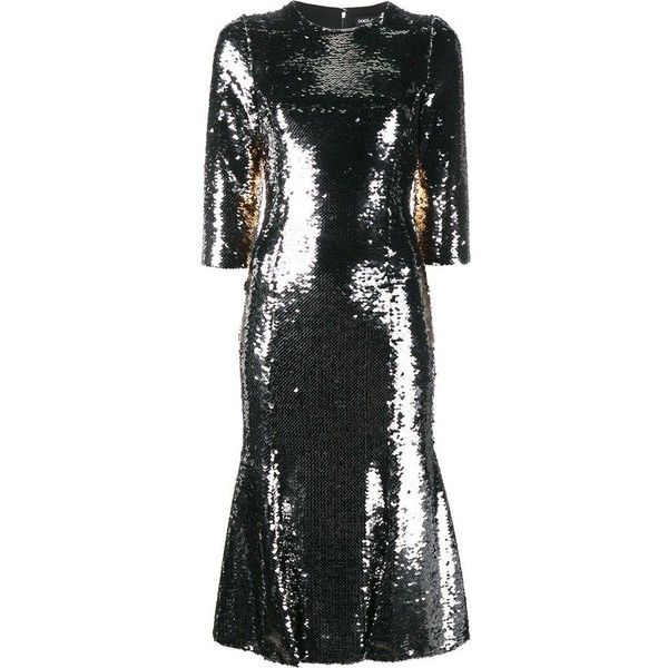 Dolce & Gabbana sequin embellished dress ($3,865) ❤ liked on Polyvore featuring dresses, metallic, metallic cocktail dress, metallic dress, sequin cocktail dresses, sequin embellished dress and sequin dresses