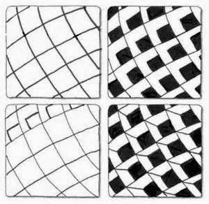 Zentangle Patterns For Beginners | Zentangle, rustgevend tekenen                                                                                                                                                      More