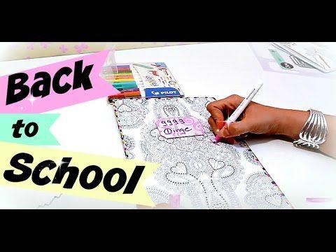 Back to school 2016 Schule   Heft mit erwachsenen Malbuch verschönern   ...