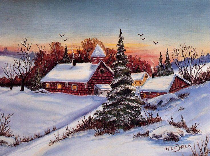 советские открытки зимние пейзажи мужчин это заболевание
