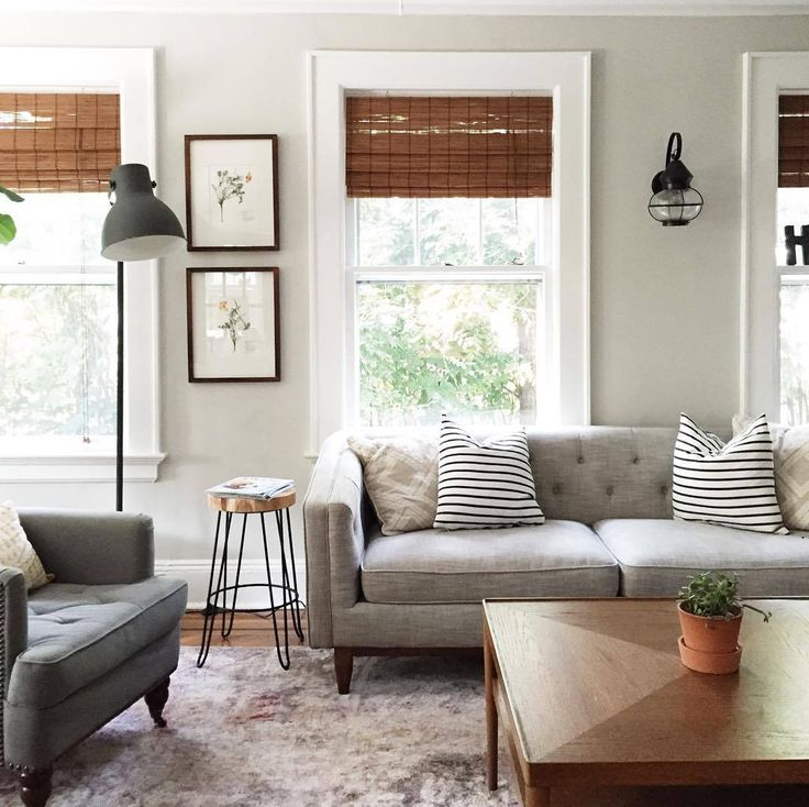 I really like the contrast of the bamboo/reed blinds with the neutrals