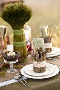 94 best bird wedding theme images on pinterest themed weddings place setting autumn grasses wheat bird theme wedding natural party garden event junglespirit Images