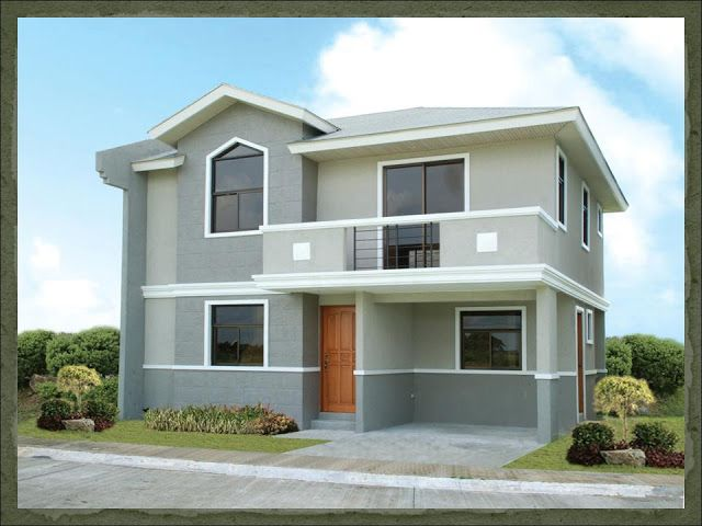 A two storey 3 bedroom home fitting in a 120 square meter for Small house design worth 300 000 pesos