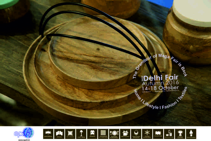 Stackables - wood serving trays add industrial chic style to table settings and house ware themes...source these at the upcoming IHGF Delhi Fair Autumn, 2016 #tableware #tradeshow #ihgf