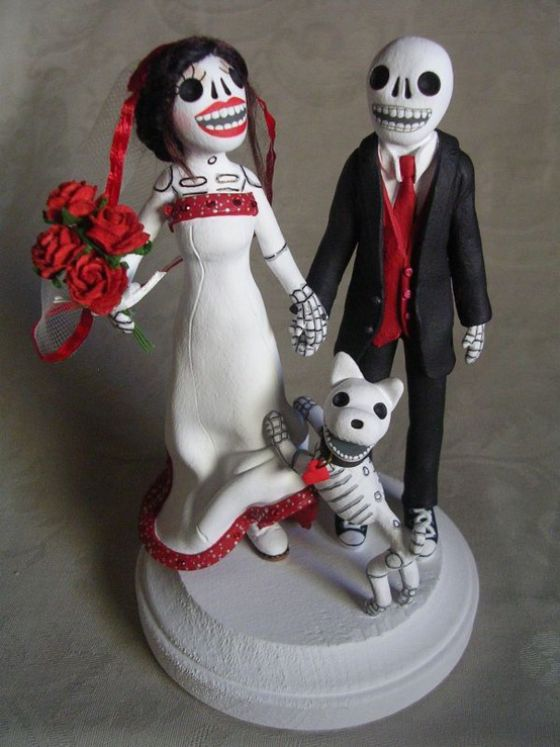 sugar wedding cake toppers sugar skulls cake topper ddelm i will rise again 20592