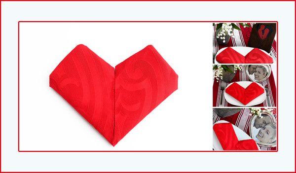 die besten 25 servietten falten herz ideen auf pinterest herz falten origami herz und. Black Bedroom Furniture Sets. Home Design Ideas