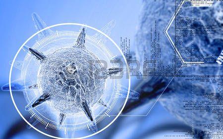 вирус: Цифровые иллюстрации вирус герпеса в цветном фоне