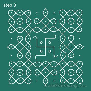 9x9 Dot Rangoli Step 3