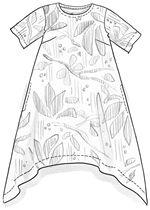"""Magnoli"" dress in eco-cotton – Irresistible silk parka – Gudrun Sjödén"