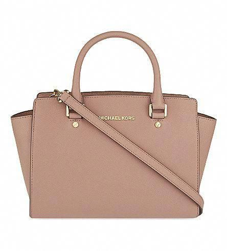 5f78432faf63 MICHAEL MICHAEL KORS Selma medium Saffiano leather satchel (Dusty rose)   Handbagsmichaelkors  Designerhandbags