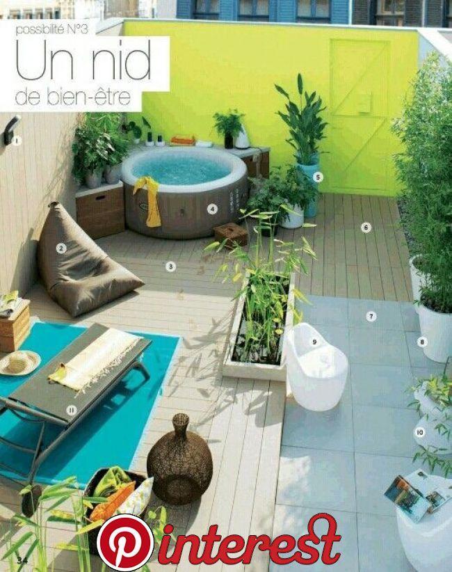 Idea Di Integrazione Jacuzzi Sulla Terrazza Tramite Catalogo Leroy Merlin Ja Hot Tub Garden Roof Garden Hot Tub Backyard