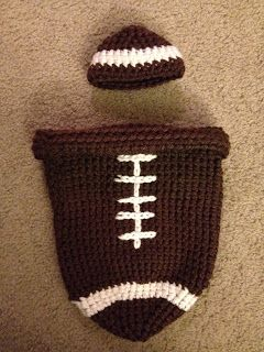 Here in the Waiting Place: Free crochet patterns - Football Cocoon