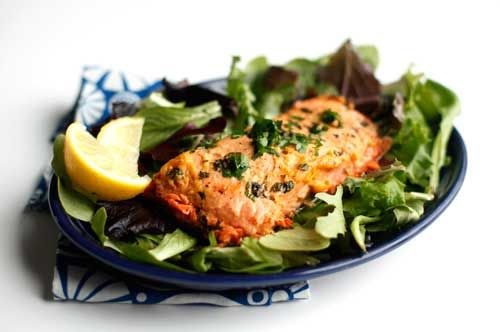 Tranci di salmone al microonde