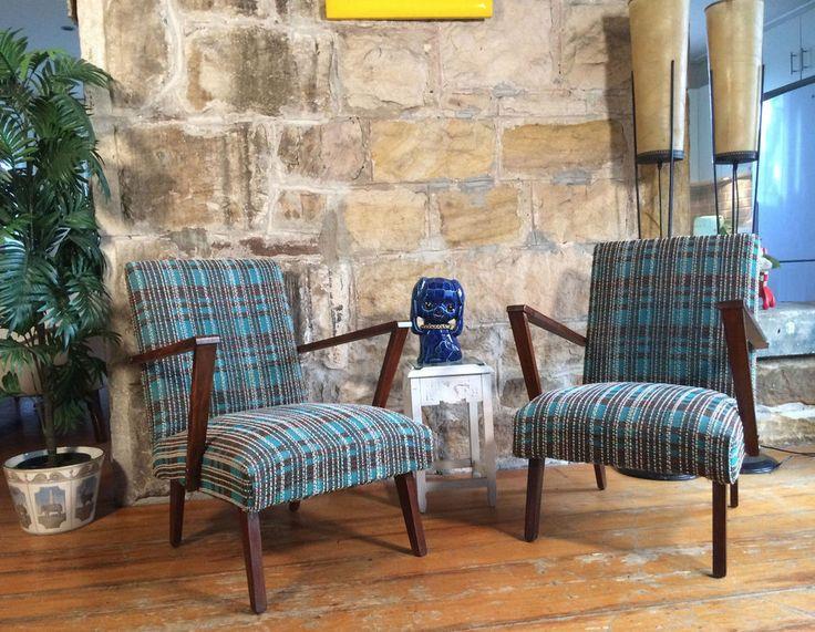 Pair Vintage Atomic Armchairs.Mid Century Retro Chairs.G Plan Parker Eames era  in Home & Garden, Furniture, Chairs | eBay!
