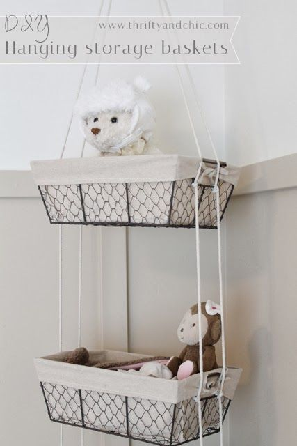 DIY Hanging Storage Baskets