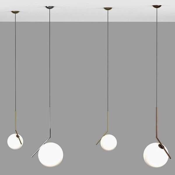 Minimalistyczna Lampa Wiszaca Step St 9228 Szklana Oprawa Zwis Kula