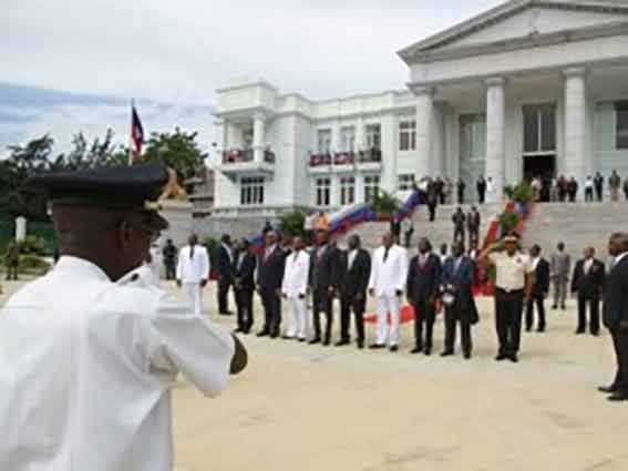 The ceremony presided over by Jules Cantave, President of the Court of Cassation, was attended by several ministers including Heidi Fortuné (Justice)