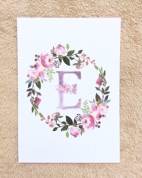 Kinderzimmer Bild Blumenkranz Personalisiert