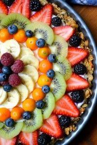 beautiful breakfast tart, a healthy, gluten free way to start the day!