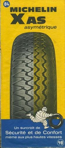 Carte Michelin - publicité pour le Pneu XAS