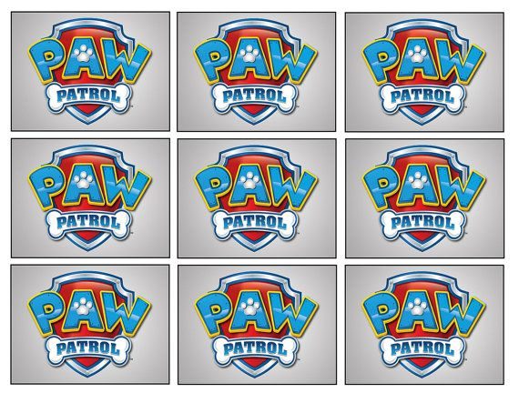 18 Paw Patrol Badge Stickers Party By