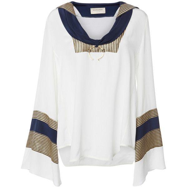 Pharos Nautical Blouse  | Moda Operandi ($550) via Polyvore featuring tops, blouses, nautical top and nautical blouse