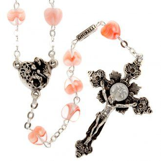 Ghirelli rosary beads in Bohemia glass 8x8 | online sales on HOLYART.co.uk