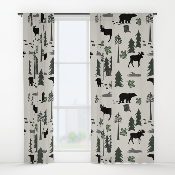 Image Result For Moose Curtains Woodland Curtains Curtains Nursery Curtains