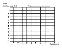 blank coordinate grid Map Worksheets