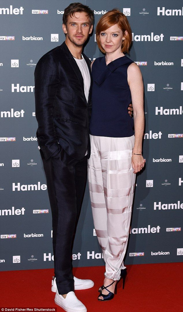 Friends in the audience:Former Downton Abbey star Dan Stevens arrived with his wife Susie...