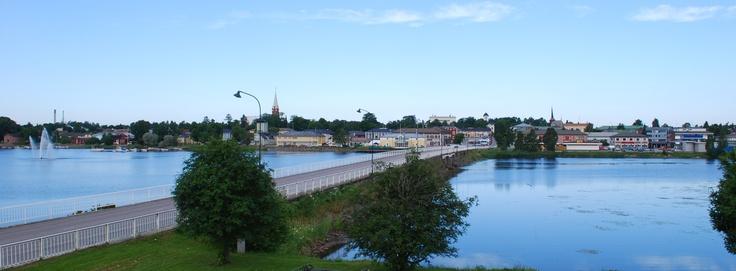 Town silhouette of Kristinestad