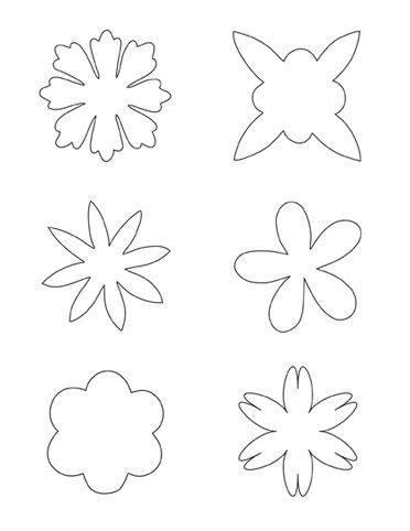 Printable flower pattern, use for fabric flowers for a craft for Megan.