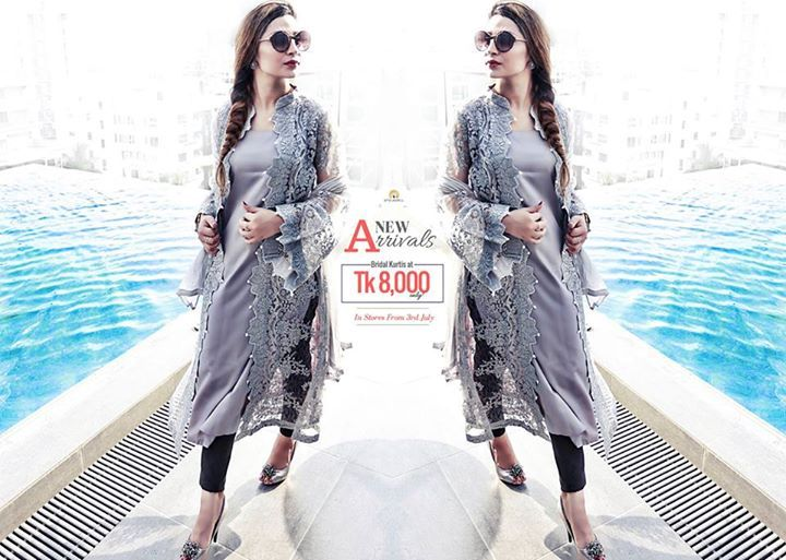 #StyleSell #Designer #Collection - Buy Bridal Kurtis at Tk 8000 ONLY! Buy Unstitched 3 pcs at Tk 3000 Only. New Arrivals in stores from 3rd July! <3  #Regularwear #Fashionable #Accessories #Clothing #Comfort #BestPrice #NewArrivals  Our Shop address: Showroom 1: South Avenue, Gulshan 1 (Just beside Gulshan 1 DCC Market on the main road). Showroom 2: Police Concord Plaza, Level 1, Shop no: 234, StyleSell. Helpline: 04478787877 #fashion #style #clothing