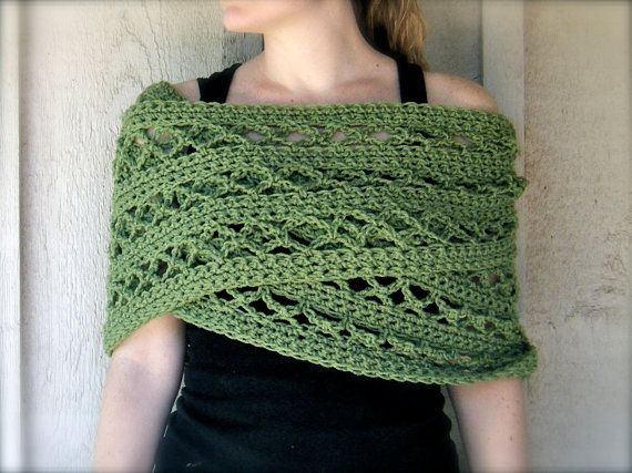 PATTERN: 4 Ways to Wear It, Hoja Cowl, easy crochet PDF, Infinity Circle Scarf, lacy textured neckwear, InStAnT DoWnLoAd, Permission to Sell...