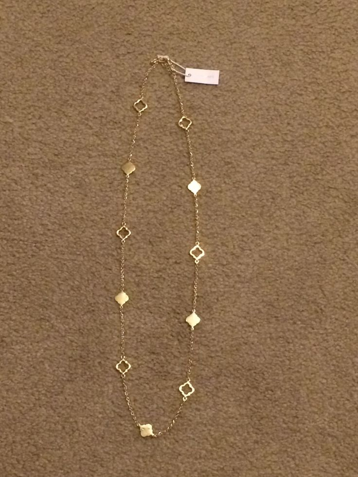 Simple and cute! Bancroft Kaitland Spade Charm Long Gold Necklace - February 2015 Stitch Fix | The Adventures of Bug
