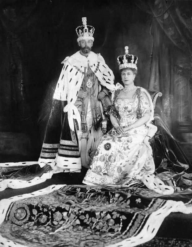 King George V and Queen Mary after their coronation