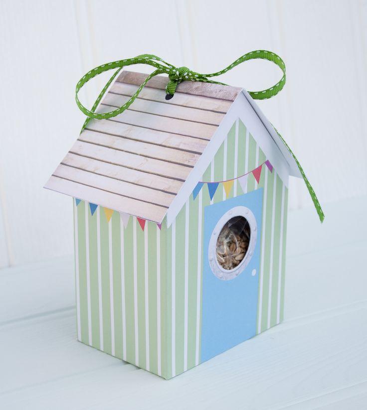 Beach hut bird house – green | Driftwood Dreaming ...
