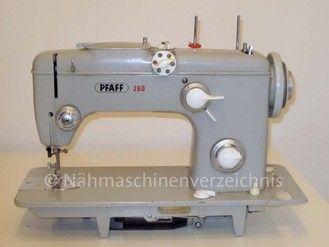 Pfaff 260 Automatic, Flachbett mit Einbaumotor, Hersteller: G.M. Pfaff AG, Nähmaschinenfabrik, Kaiserslautern (Bilder: Erwin P. Scissek)