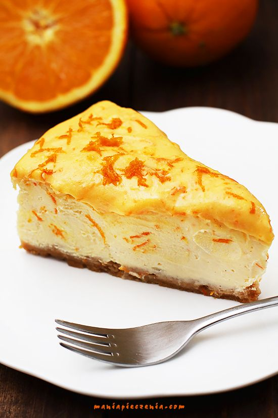 sernik pomarańczowy, sernik pomarańczowy z orange curd, orange curd cheesecake, orange cheesecake,