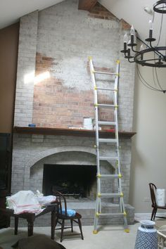 How to Whitewash Brick - keep this for a later reference :). Good tips about removing paint if you put too much on - Modern Fireplace