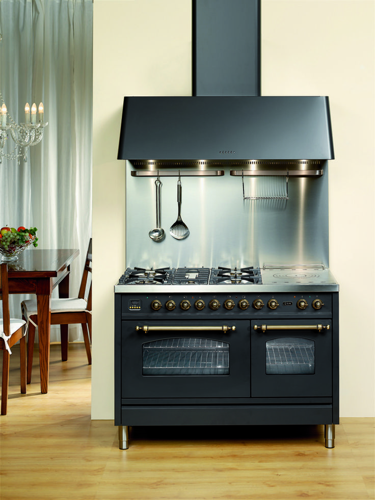 ILVE's four ring cooktop has a modern Victorian feel
